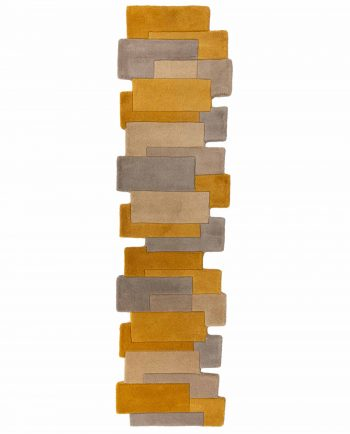 Anversa Rugs Abstract Collage Runner Ochre 1