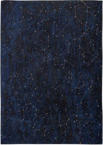 Louis De Poortere rug Fischbacher 9060 Celestial Midnight Blue